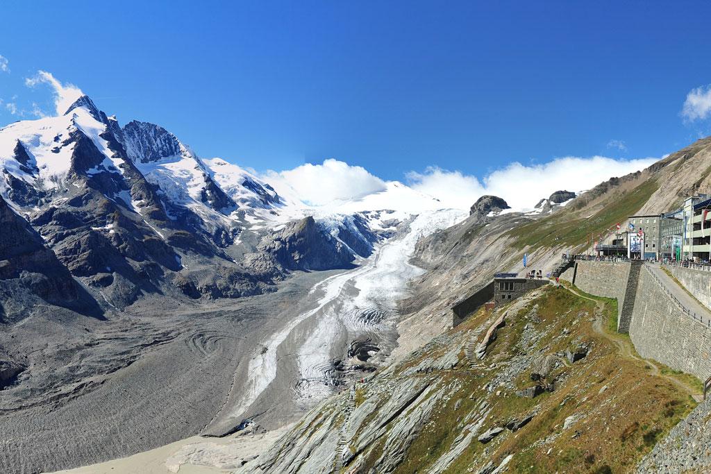 Uitzicht Pasterze gletsjer