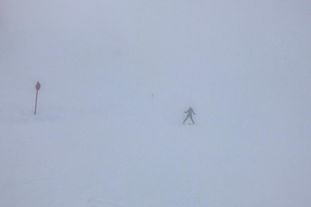 Slecht zicht skieën