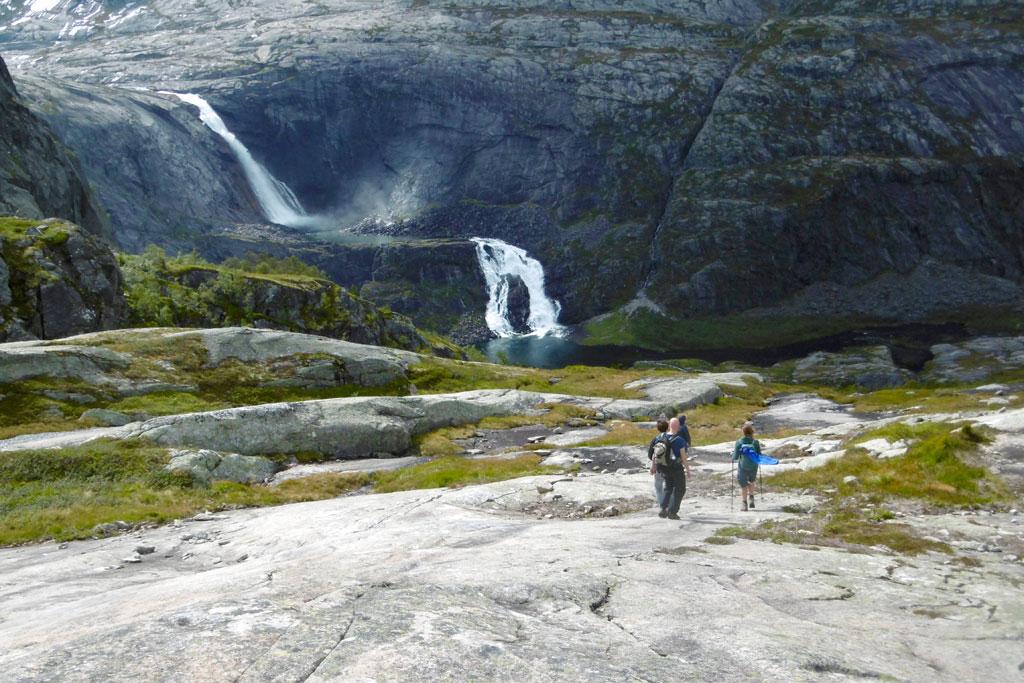 Wandelen in de bergen Noorwegen: Husedalen