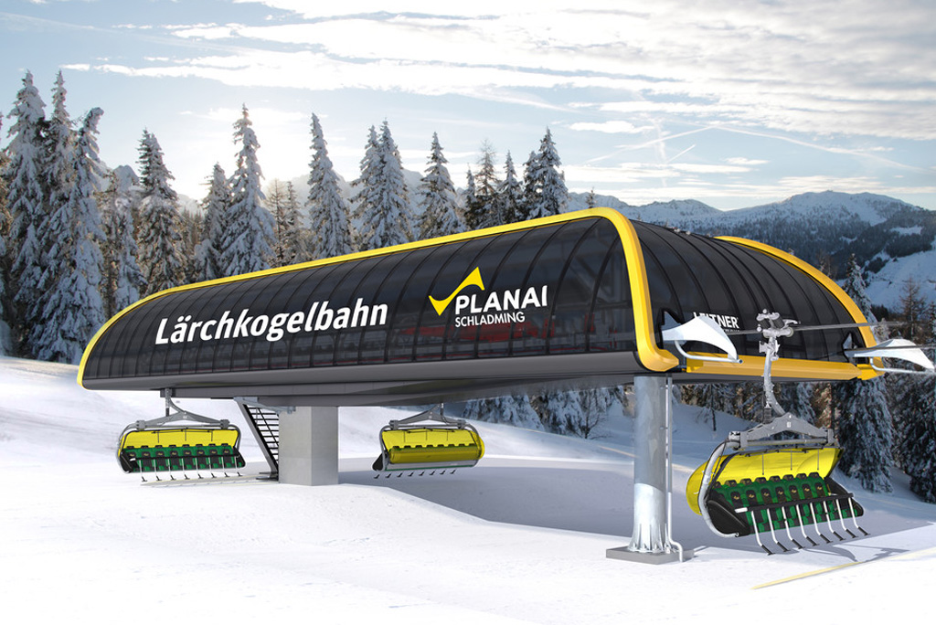 Impressie bergstation Lärchkogelbahn