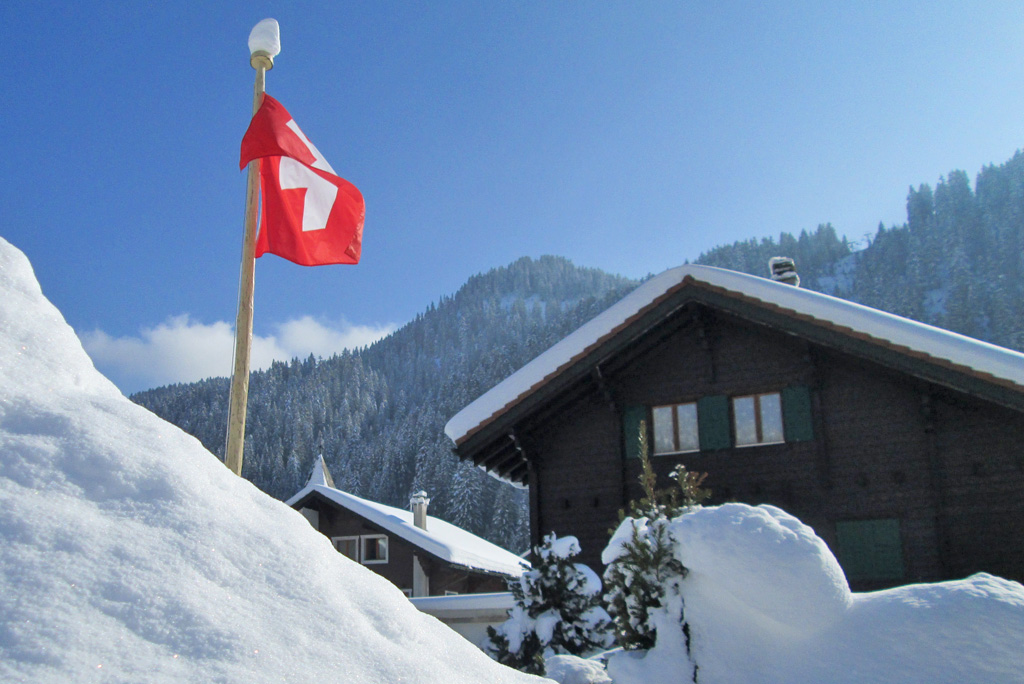 Skidorp vlag Zwitserland