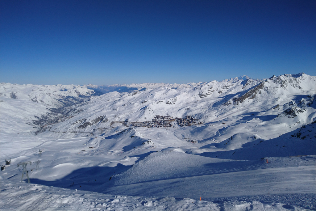 Aerial view of Val Thorens