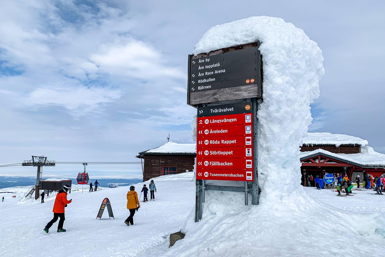Sneeuwzeker skigebied Åre