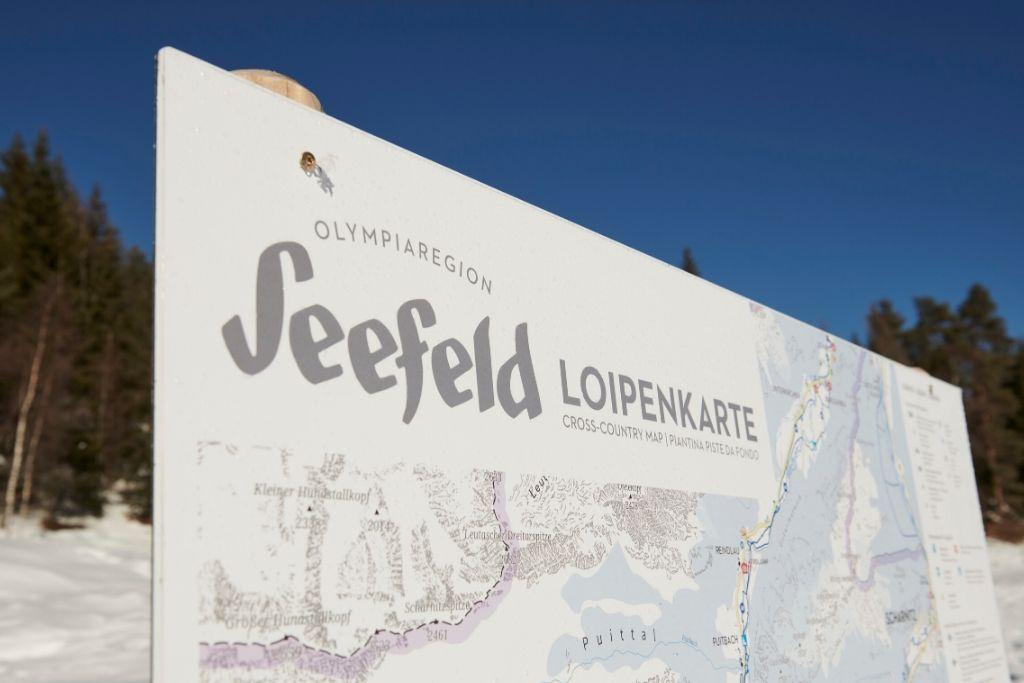 Seefeld Loipenkarte