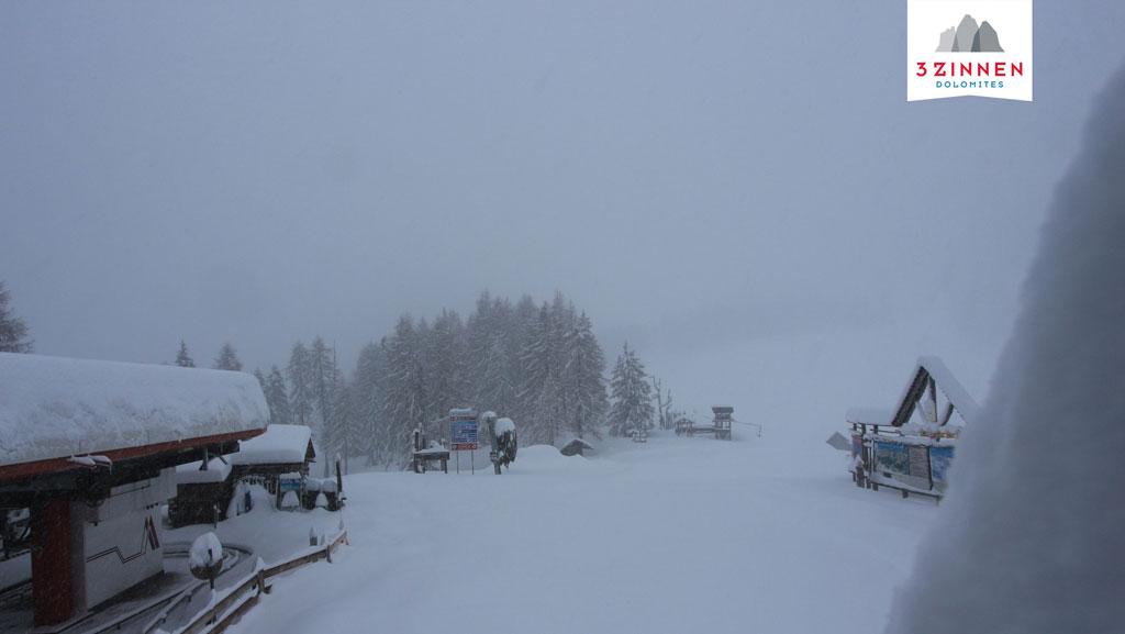 Drei Zinnen sneeuw
