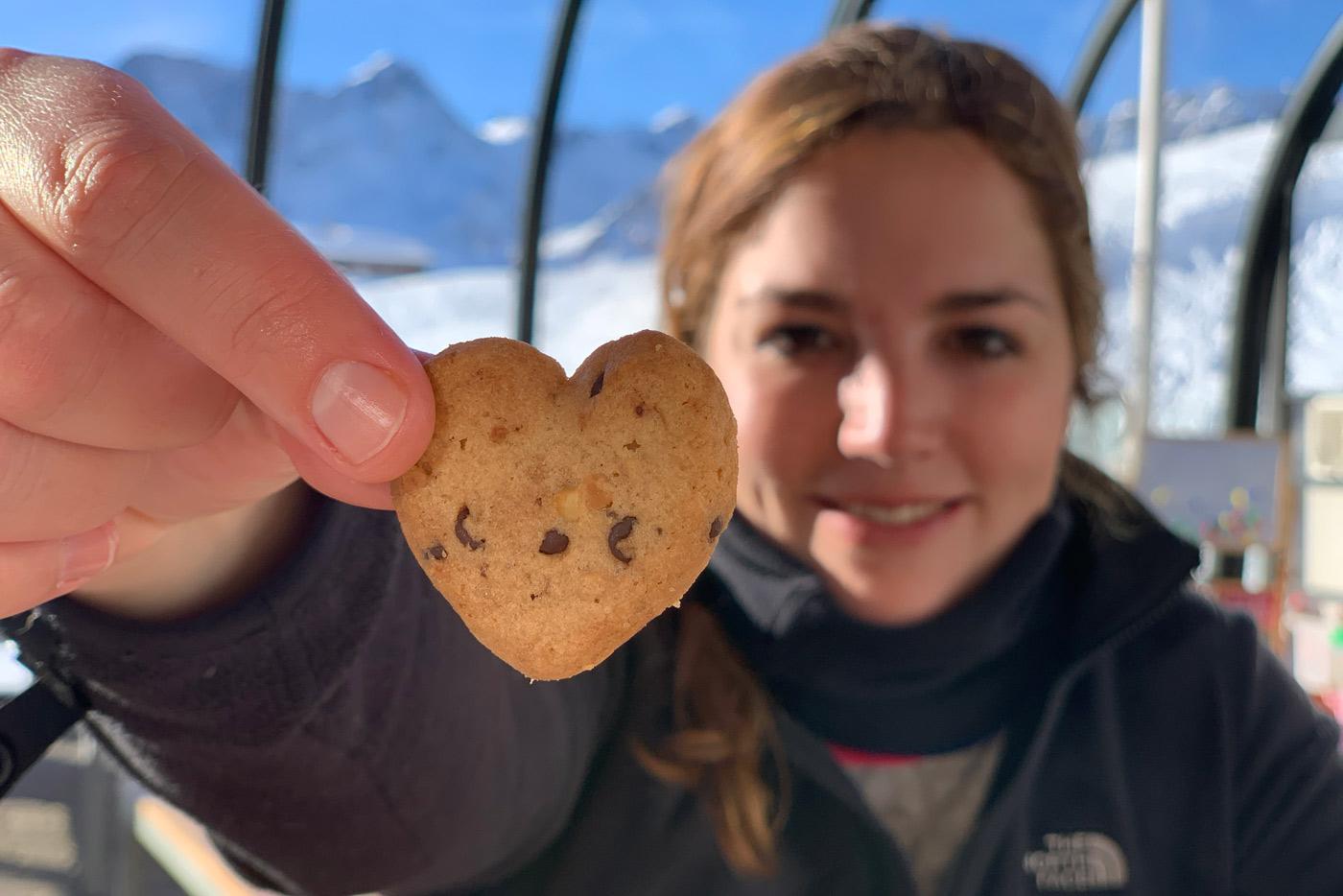 hartjes koekje op wintersport