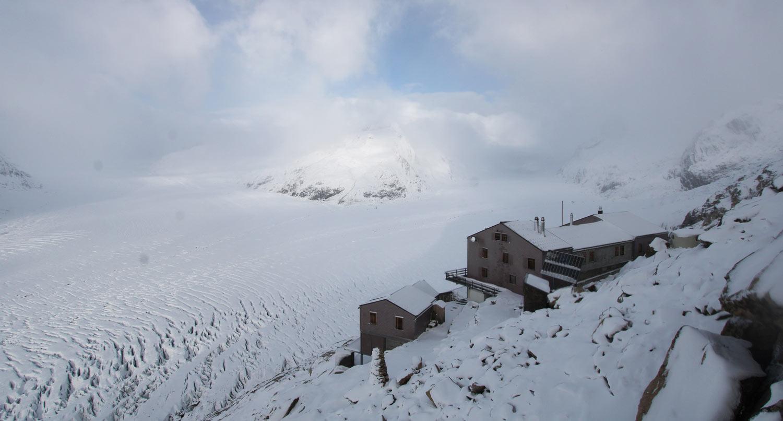 Aletsch Gletscher Aletsch Arena verse sneeuw
