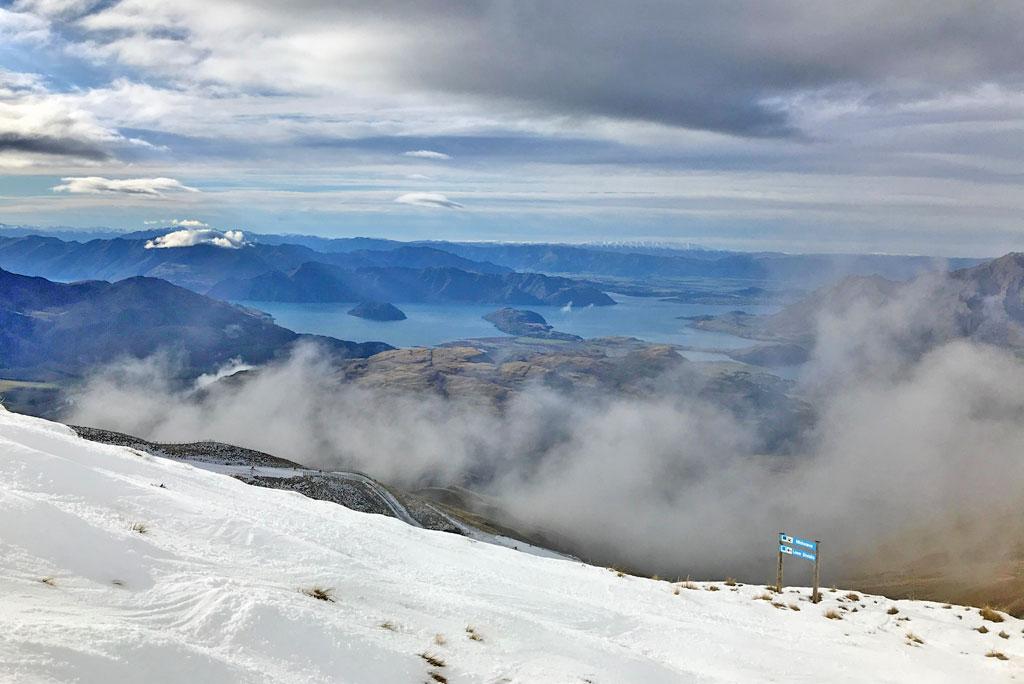 Prachtig uitzicht skigebied Treble Cone