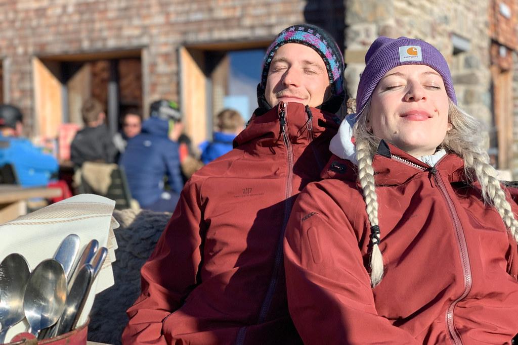 Zon en wintersport