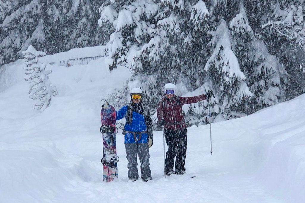 Veel sneeuw op wintersport