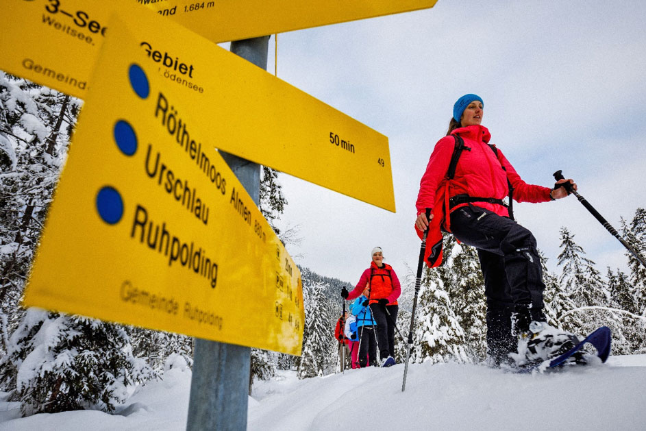 snowshoeing in ruhpolding