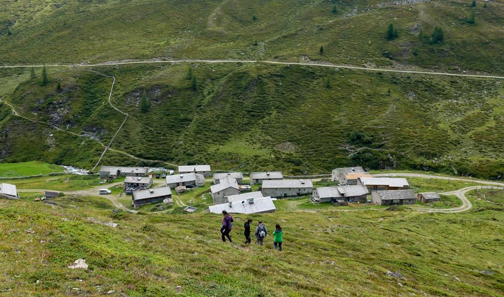 Uitzicht op de Jagdhausalm in Osttirol