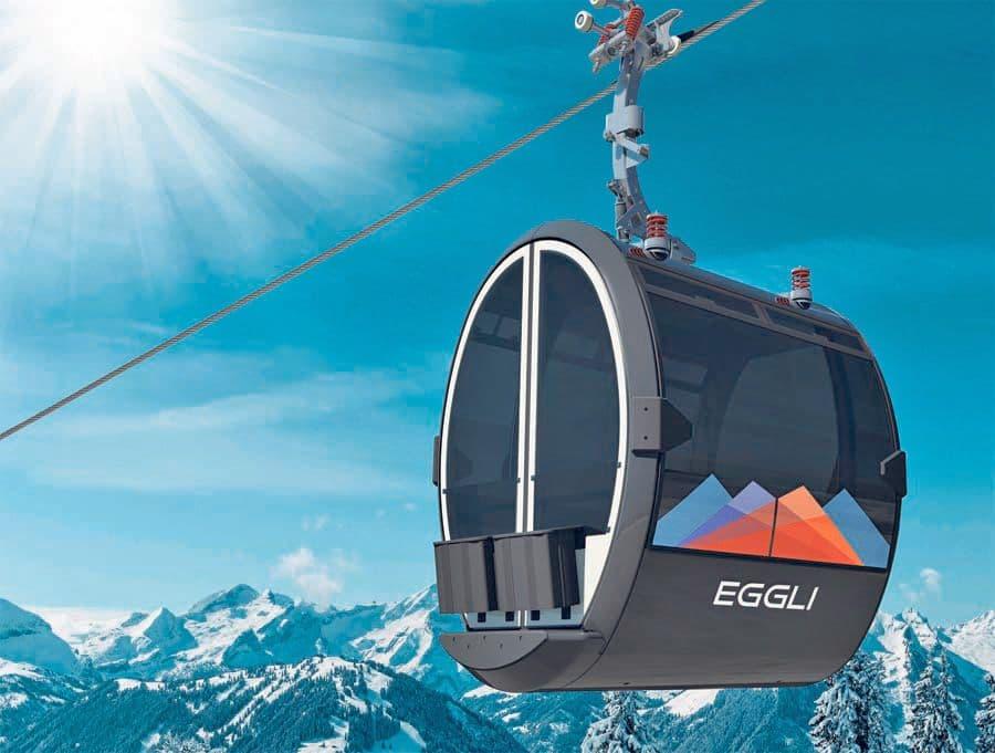 Eggli gondola by Porsche in Gstaad