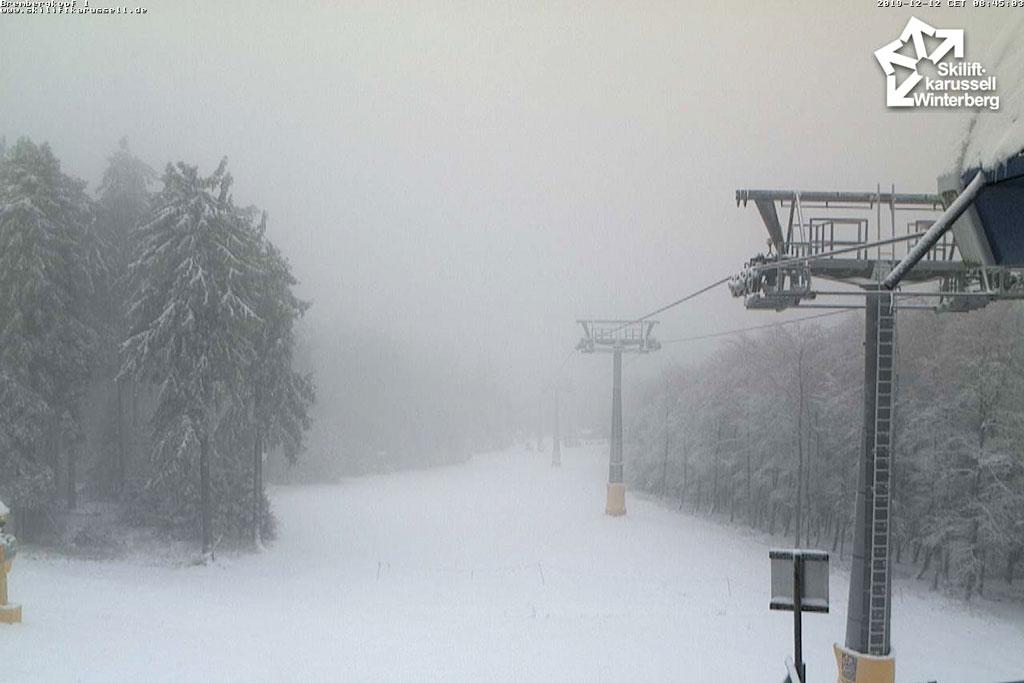 Sneeuw op bomen in Winterberg