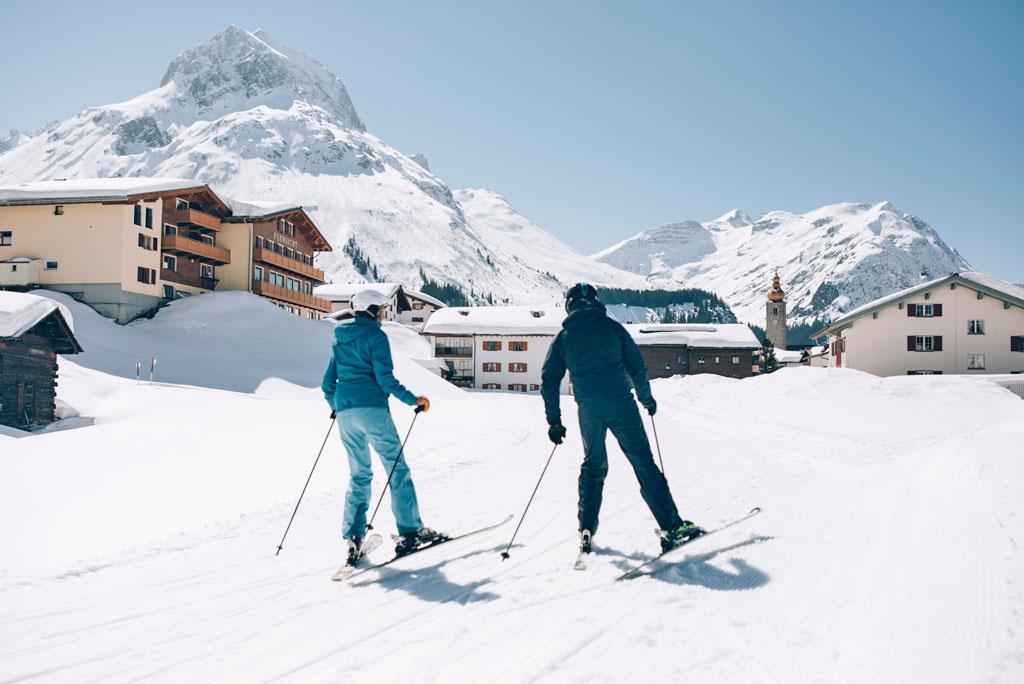 Skiing Lech
