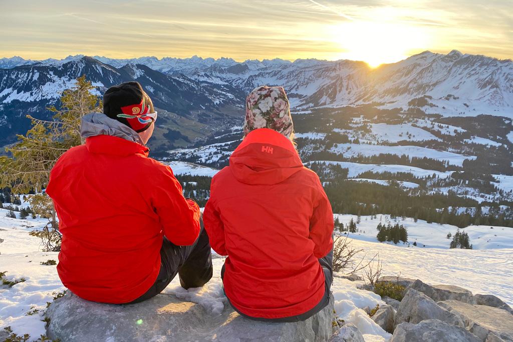 Sonnenuntergang Entlebuch Schweizer Alpen