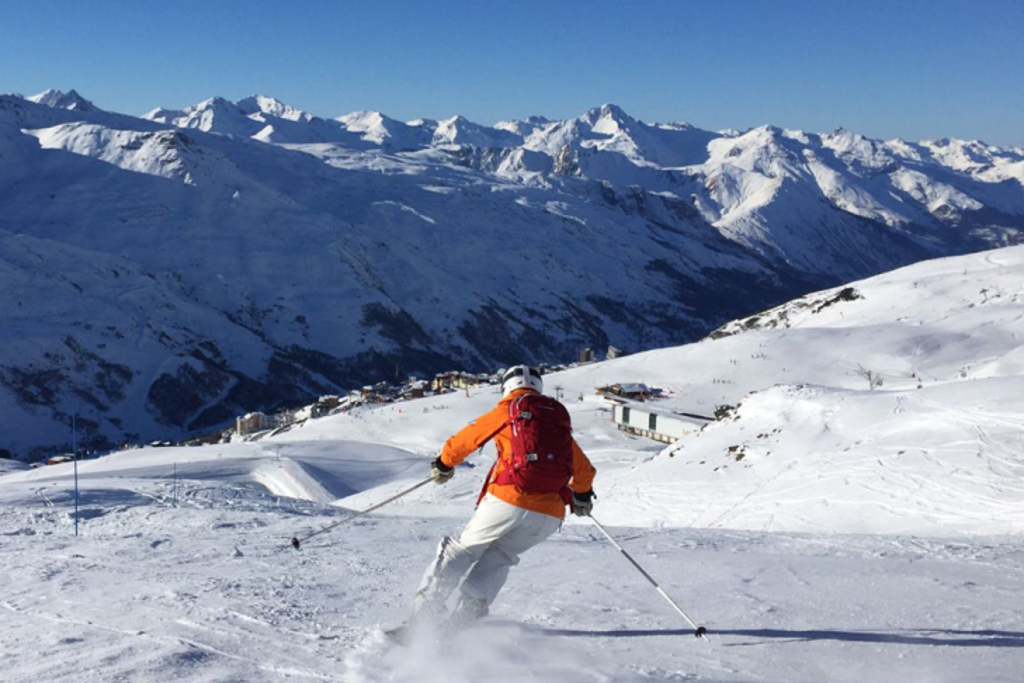 Skiing in the Three Valleys