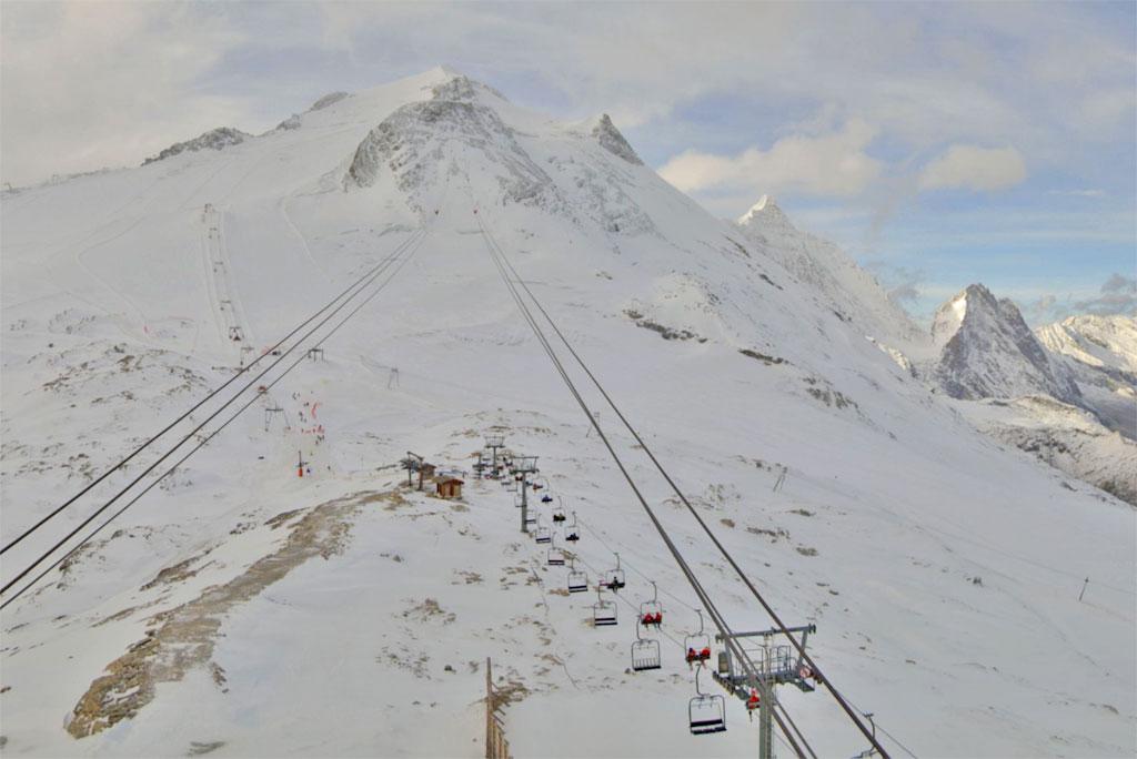 Gletsjer Tignes oktober 2019