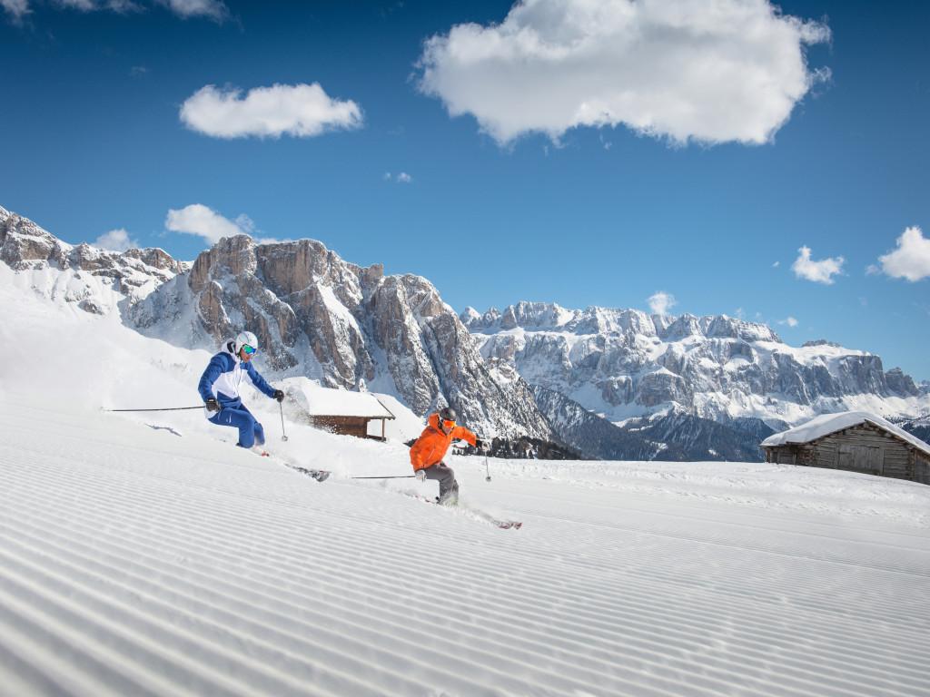 Val Gardena skiers