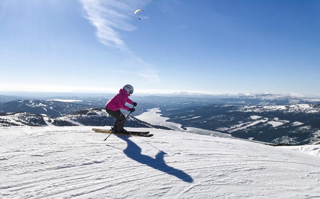 Skiën met dit uitzicht is toch geweldig?