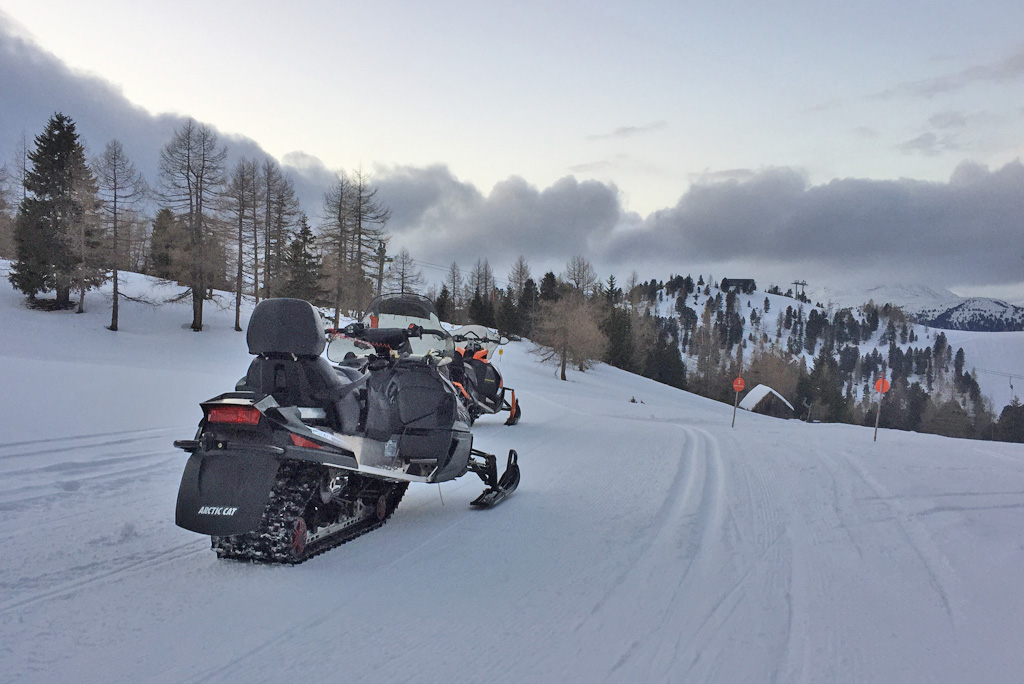 Sneeuwmobiel wintersport