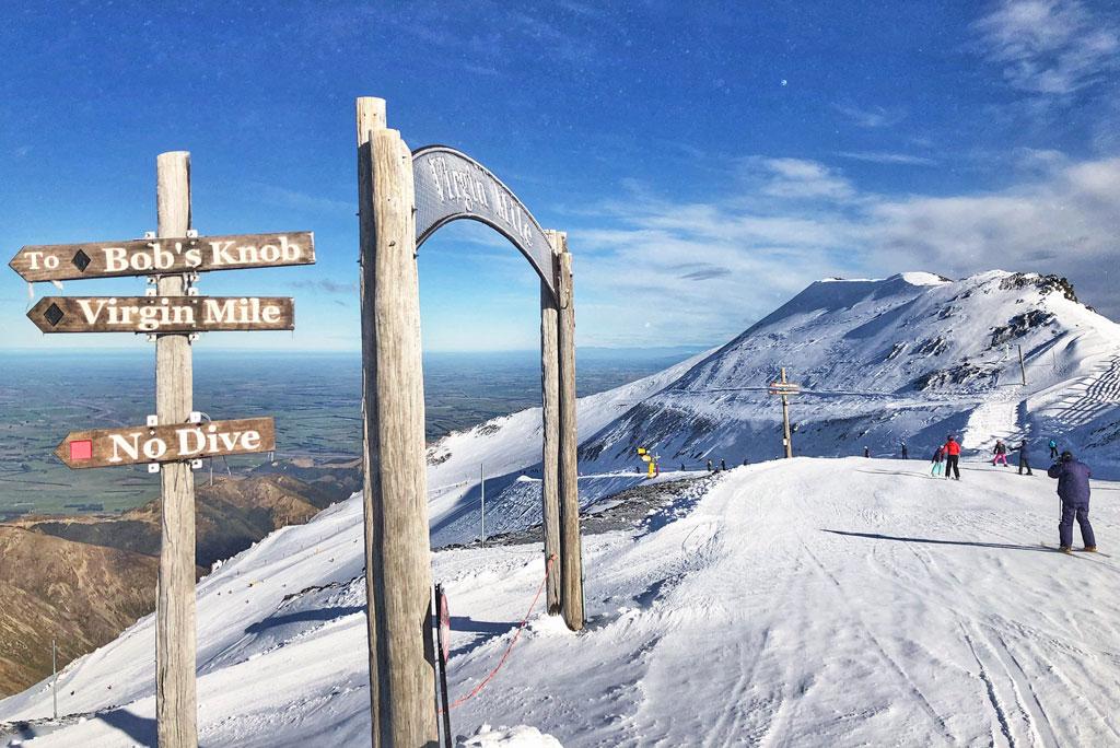 Pistes en pisteborden Mt Hutt