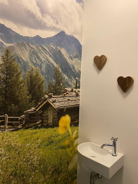 fotobehang met Alpen