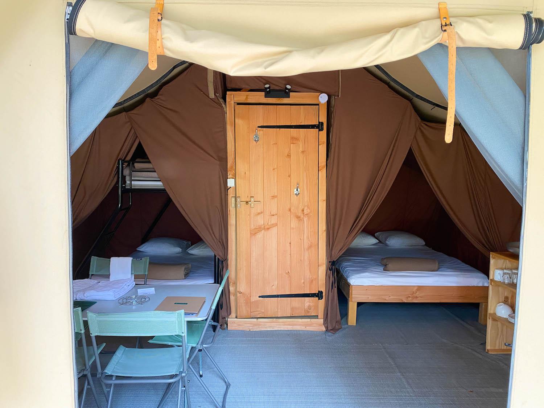 Trappeur tent Huttopia La Clarée