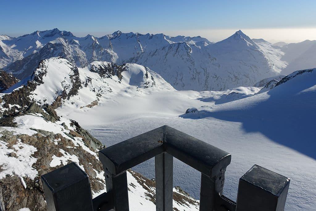 Uitzicht gletsjer Saas-Fee