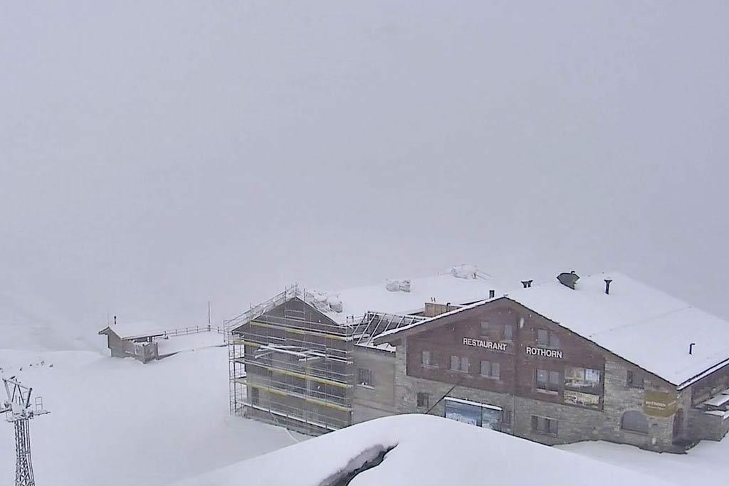 Sneeuw Zermatt in Juli