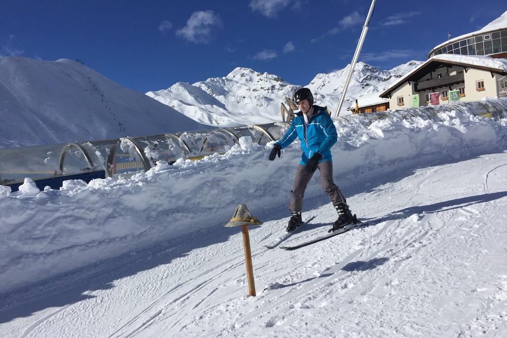 Skiër beginner
