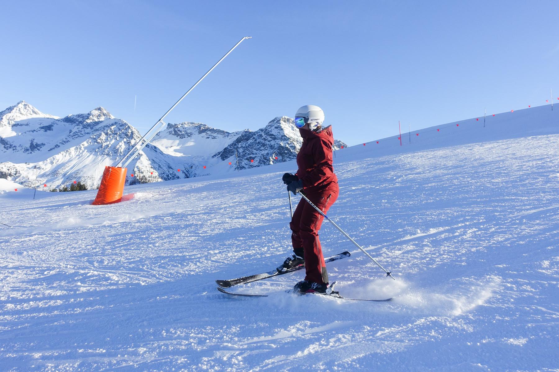 Beginner on the slopes
