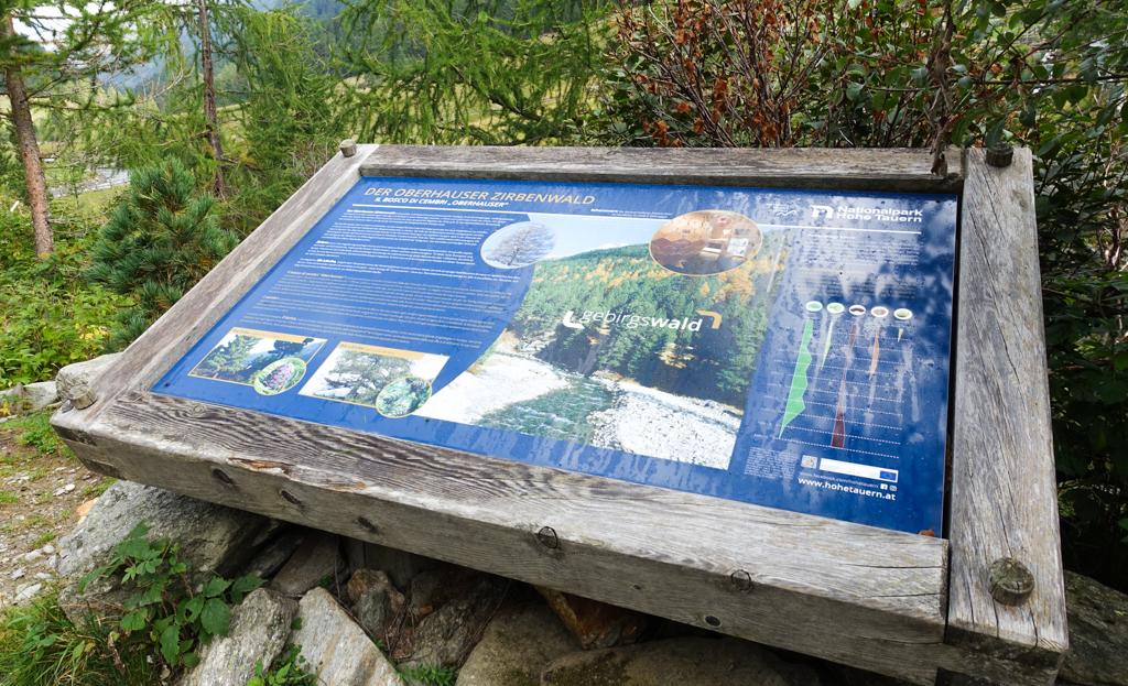 Wandelen Osttirol informatiebord