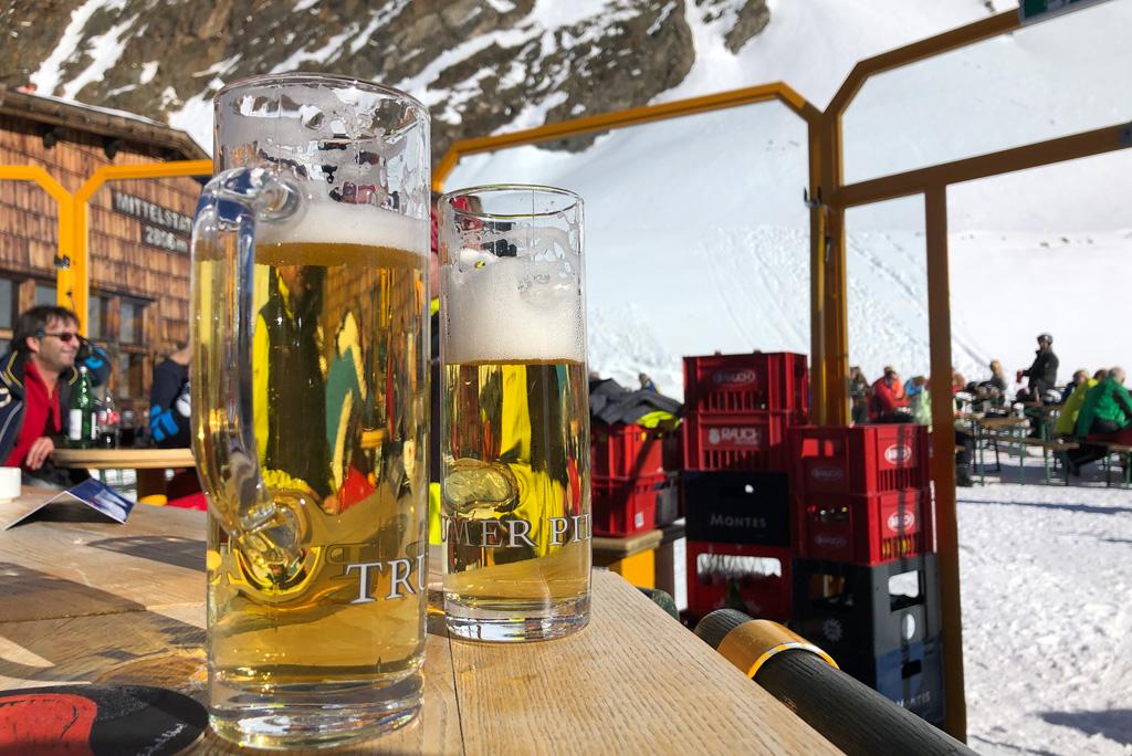 Biertje op de piste