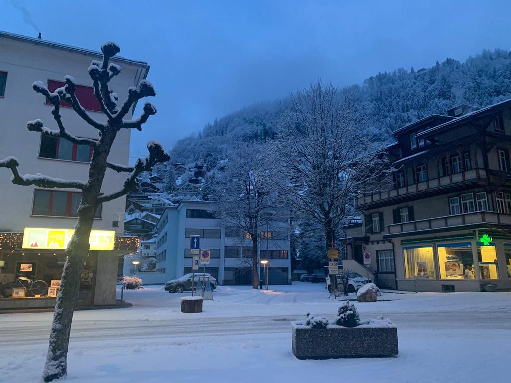 Neige fraîche à Engelberg