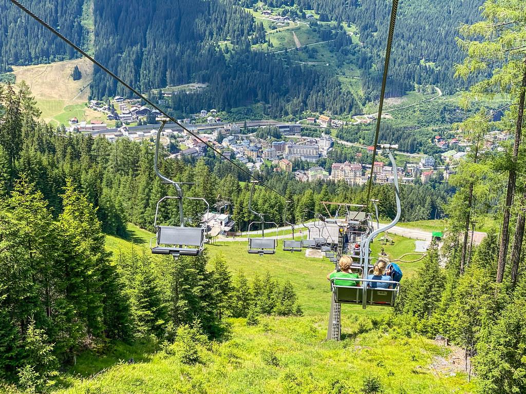 Zomer berglift in Oostenrijk