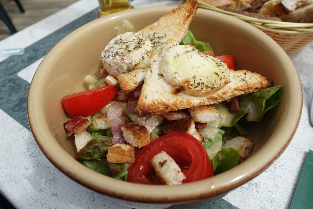 Salade met Geitenkaas in Frankrijk