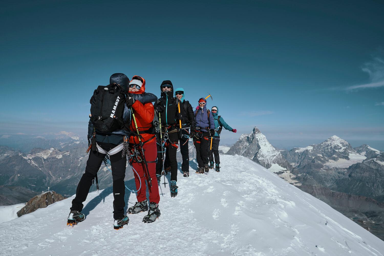 Top bereiken Breithorn