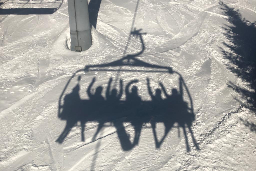 Afleiding in skilift