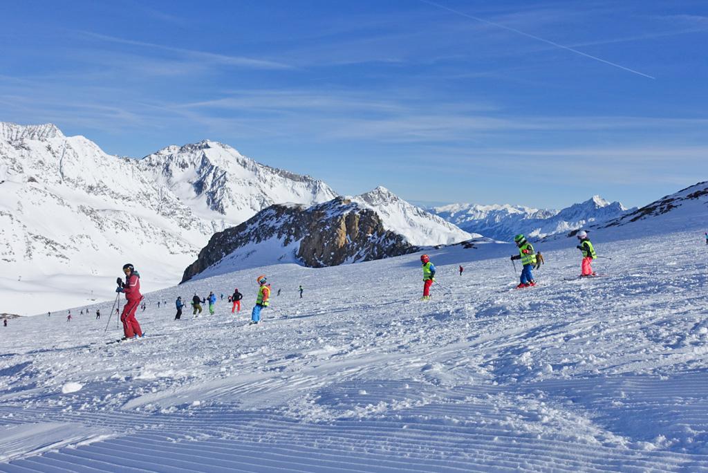 Leren skiën in het Stubaital