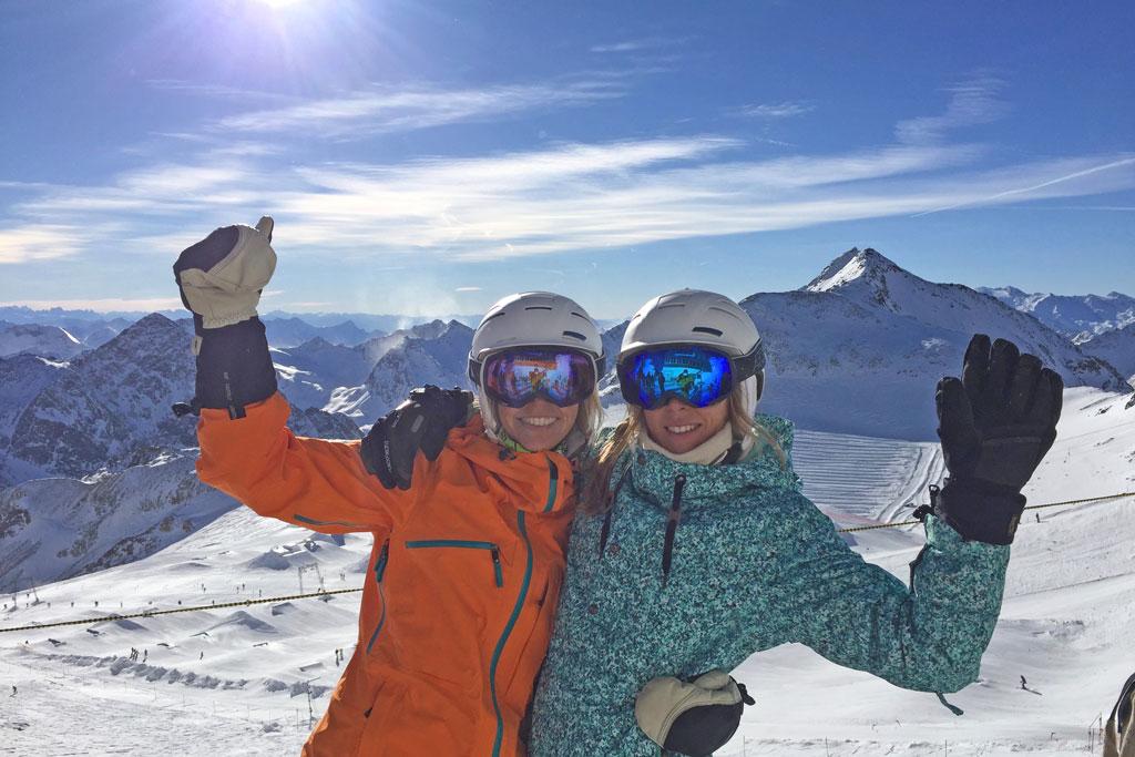 Met vrienden op wintersport