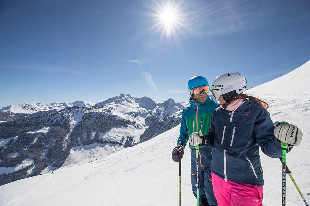 Koppel uitzicht Ski Juwel