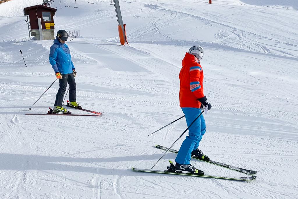 Skifahren im V