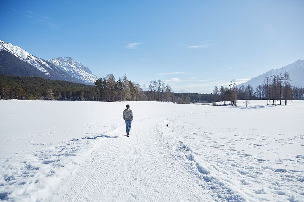 Winter hiking at Mieming
