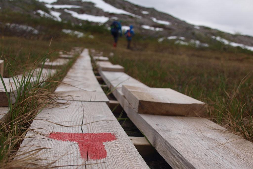 wegmarkering noorwegen rode DNT T-markering