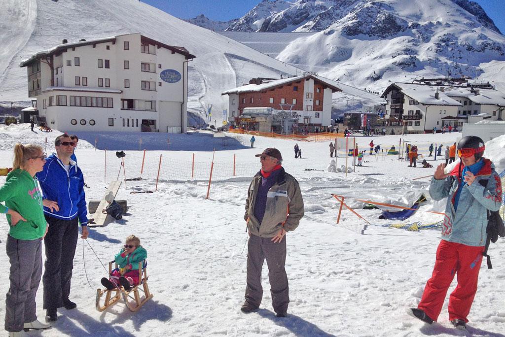 Oppassen kinderen wintersport