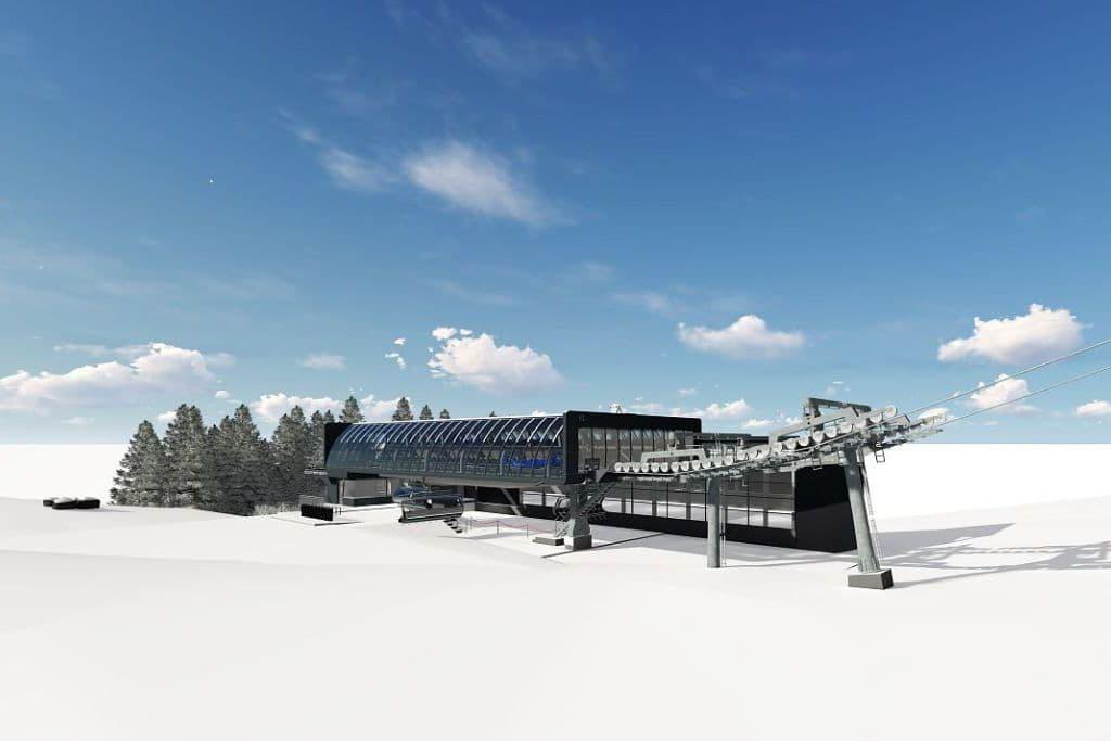 Bottom station of new Fleidingbahn lift