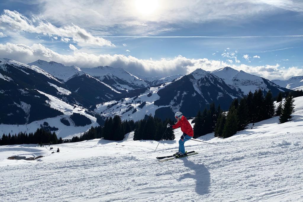 Skien in het skicircus