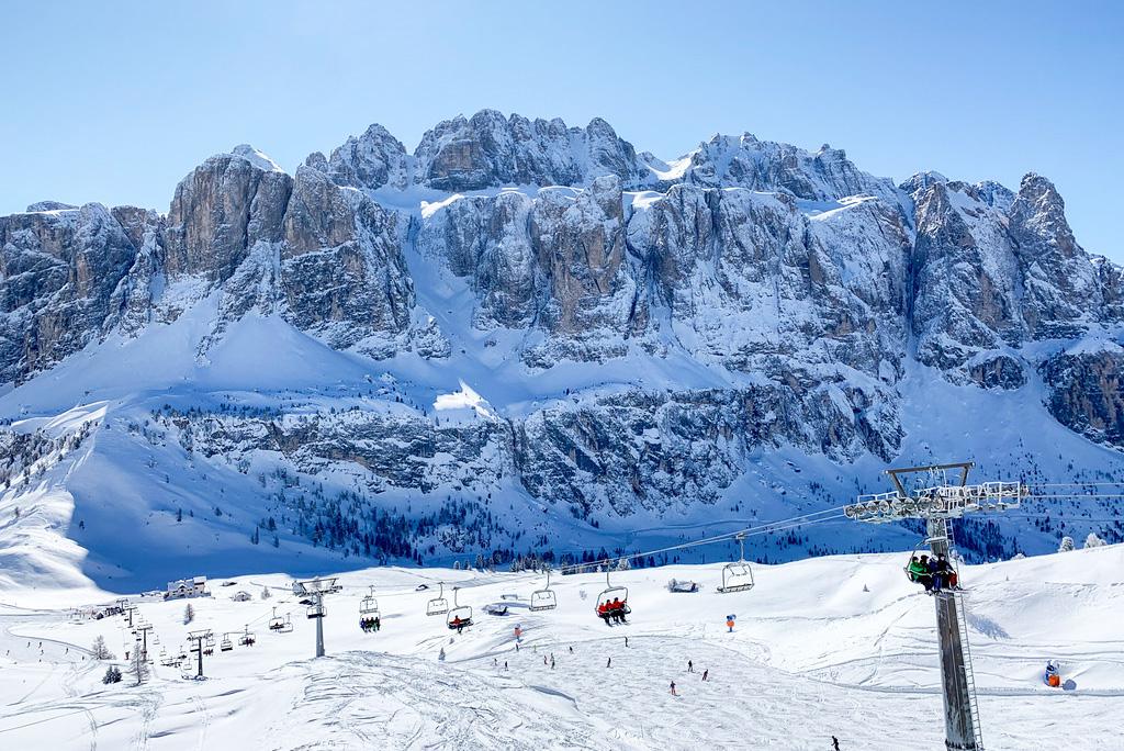 Skifahren in Val Gardena Dolomiten