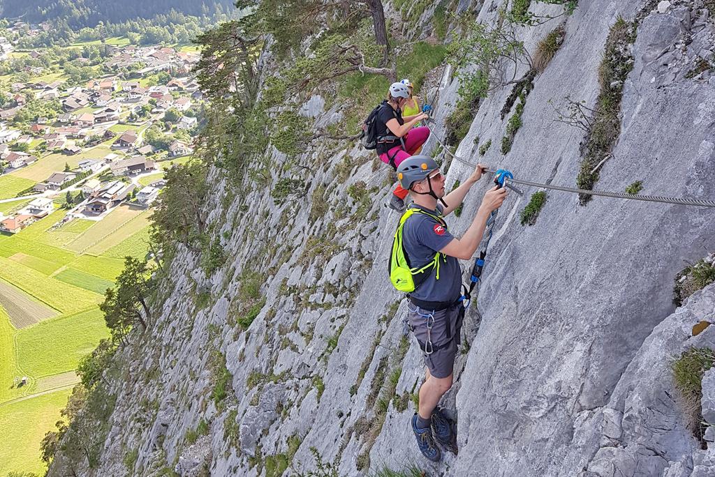 Klimmen in de bergen van Tirol